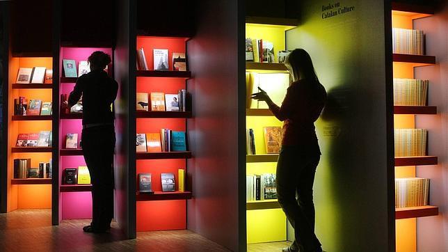 Preparativos de la Feria del Libro de Fráncfort en 2007