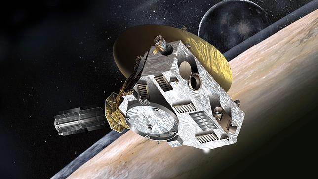 Recreación de la sonda News Horizon en su camino a Marte