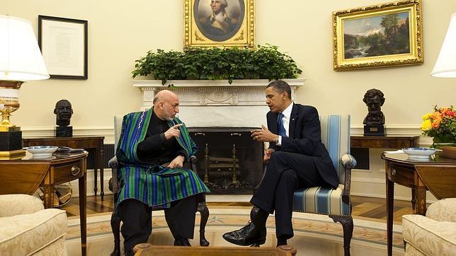 Obama y Karzai analizan en la Casa Blanca la cooperación futura entre EE.UU. y Afganistán