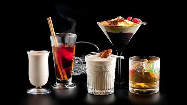 Algunos de los cócteles de Javier de las Muelas, en el Dry Martini de Barcelona