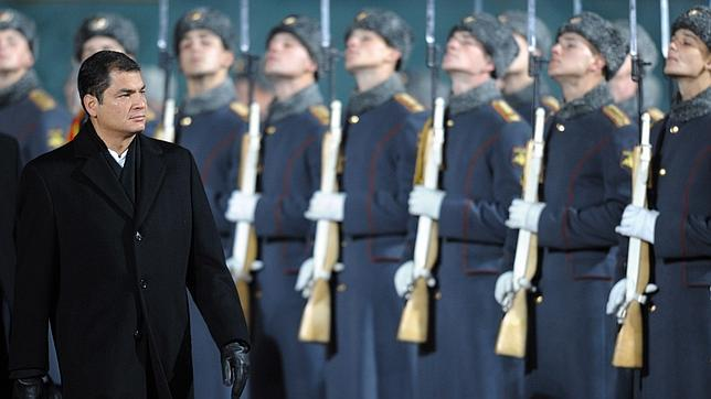 Rafael Correa en Moscú