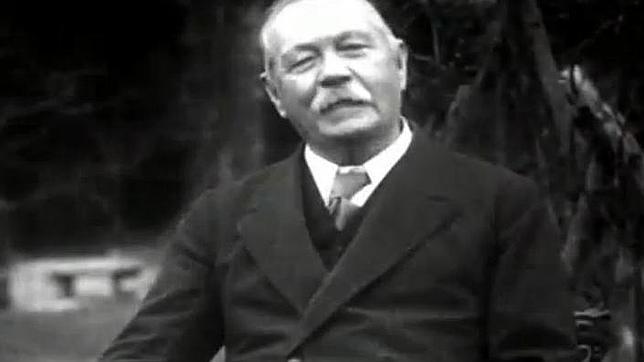 El autor, durante la entrevista de 1927