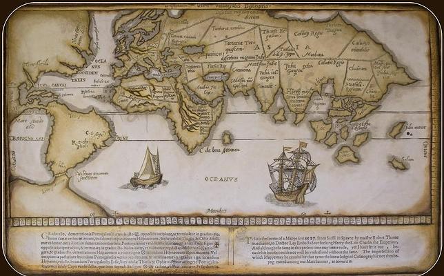El primer mapa inglés de América quería tomar la delantera a Colón por el norte