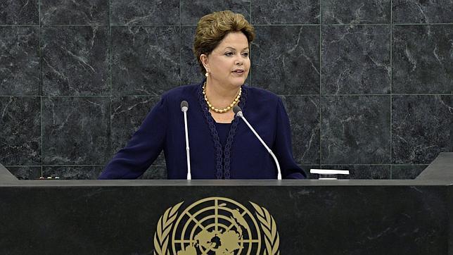 La presidenta de Brasil, Dilma Rousseff, en la ONU