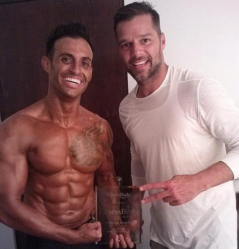 «Gracias a mi hermano por venir a verme. Fue mi mejor premio», escribió Eric tras recibir el tercer puesto en el premio Fitness Body