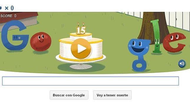 Google celebra su 15 aniversario con un doodle y una piñata