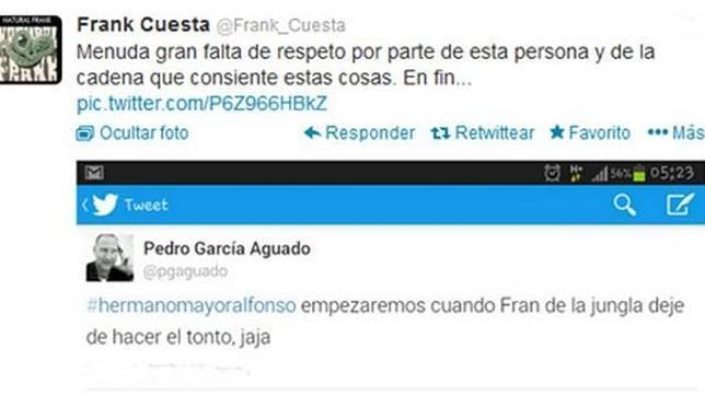 Frank de la Jungla y el «Hermano Mayor» se pelean en Twitter