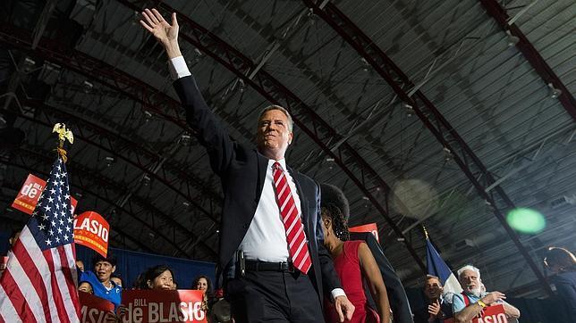 El alcalde electo de Nueva York Bill de Blasio