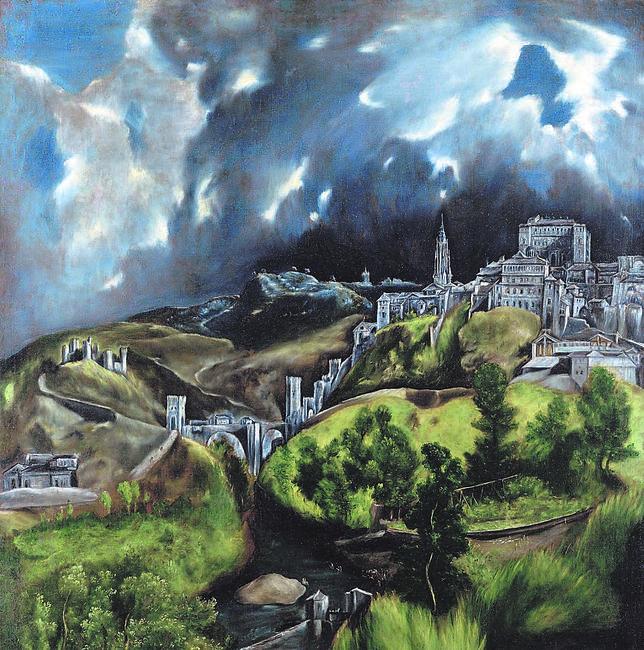 Las principales obras de El Greco se expondrán en 2014, como esta «Vista de Toledo», del Metropolitan