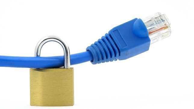 Una cable de ethernet