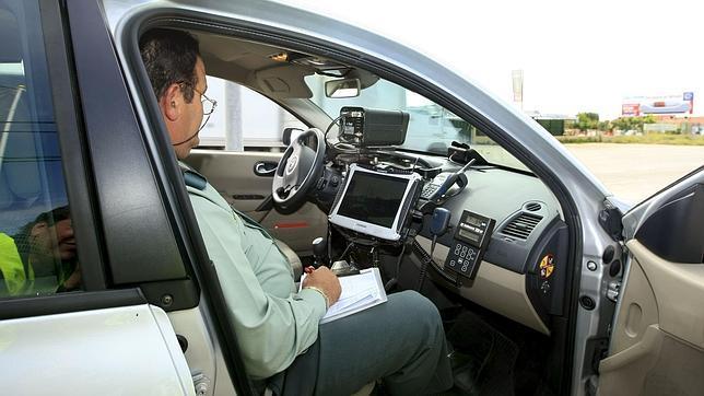 Vista de un control de velocidadhoy en Aranjuez. La Dirección General de Tráfico (DGT)