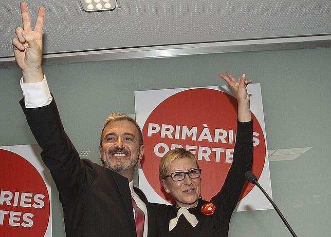 Jaume Collboni y Carmen Andrés