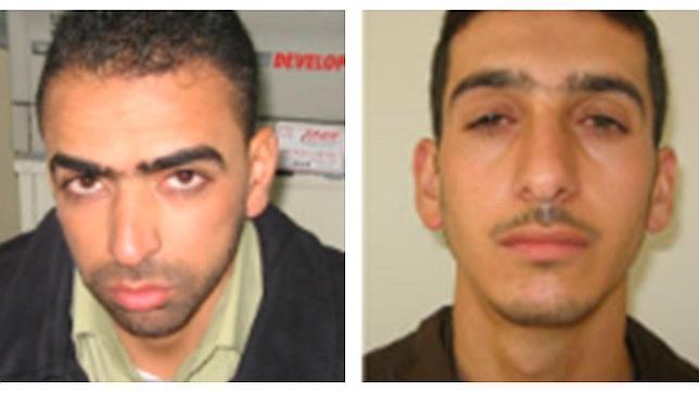 Los dos sospechosos: Amer Abu Aysha (izquierda) y Marwan Kawasme (derecha)