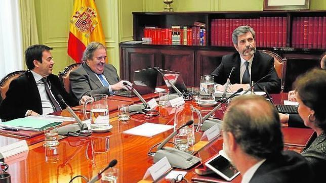 Carlos Lesmes preside el Pleno del CGPJ en una imagen de archivo