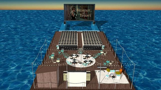 Lo último es único: un cine de verano flotante en Alicante
