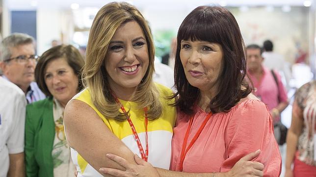 Susana Díaz y Micaela Navarro, este fin de semana en el Congreso del PSOE