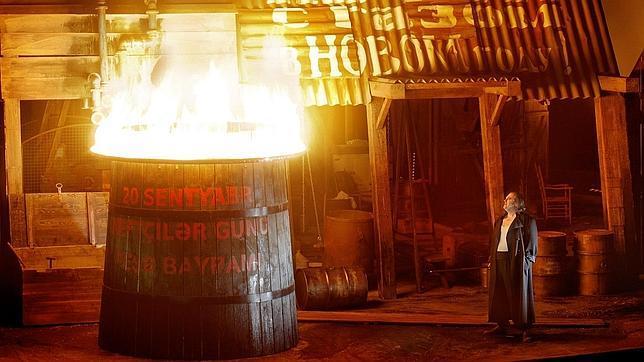 Una imagen del montaje de «Walkyria», en el Festival de Bayreuth