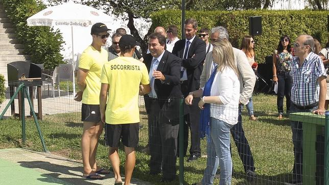 Carlos Negreira en su visita a las instalaciones