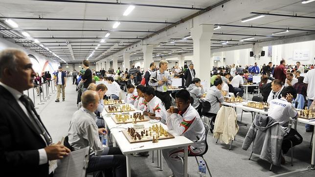 Imagen de la competición de ajedrez en Tromsø