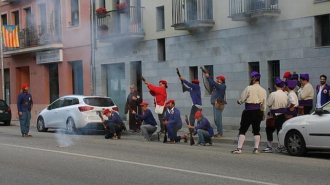 Imagen del simulacro de fusilamiento contra Jaime Gelada