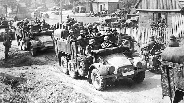 Tropas alemanas en el territorio polaco