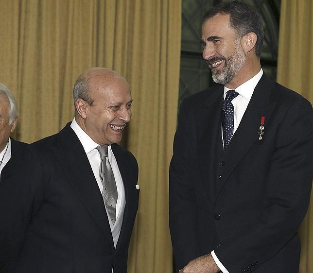 Don Felipe y Juan Ignacio Wert, en la apertura solemne del curso de las Reales Academias