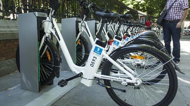 Servicio de BiciMad en Madrid