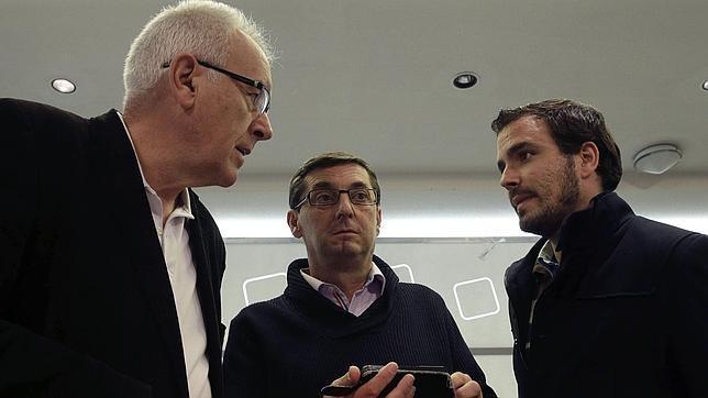 Cayo Lara, José Luis Centella y Alberto Garzón