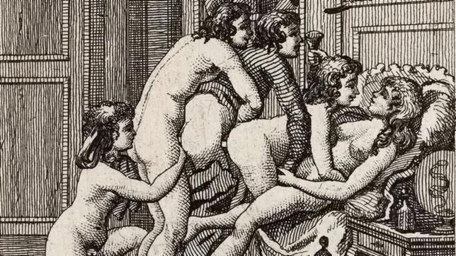 Ilustración de «Juliette o Las prosperidades del vicio», del Marqués de Sade