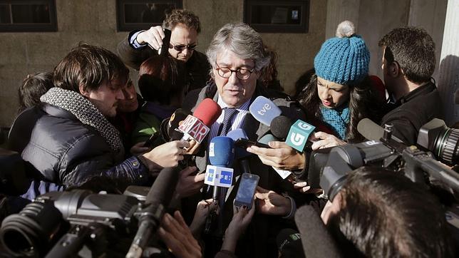 El abogado de la defensa de Rosario Porto, José Luis Gutiérrez Aranguren