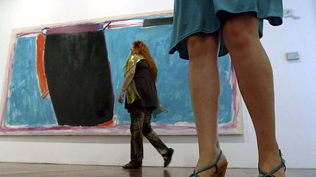 Una de las obras del pintor en el Centro José Guerrero