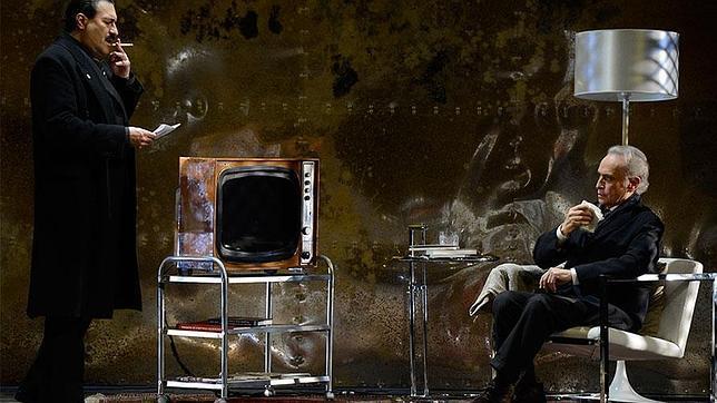Un momento de la ópera «El juez», protagonizada por José Carreras