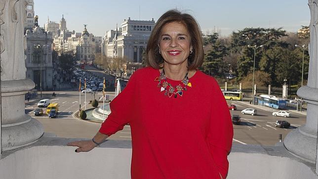Ana Botella, en su despacho de la Alcaldía, en la plaza de Cibeles
