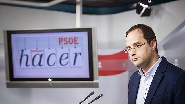 El Secretario de Organización del PSOE, César Luena, en su comparecencia de este miércoles