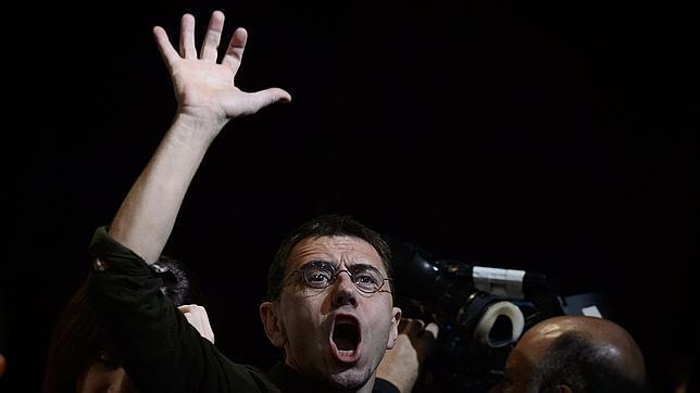 Juan Carlos Monedero durante un acto de Podemos.