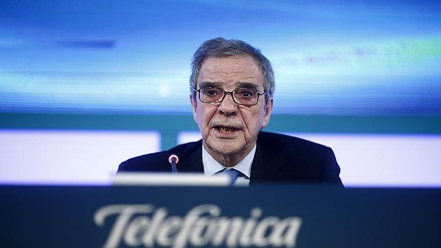César Alierta en la junta general de accionistas de Telefónica