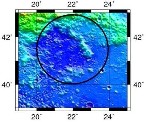 Descubren un gigantesco cráter de 200 km en la Luna