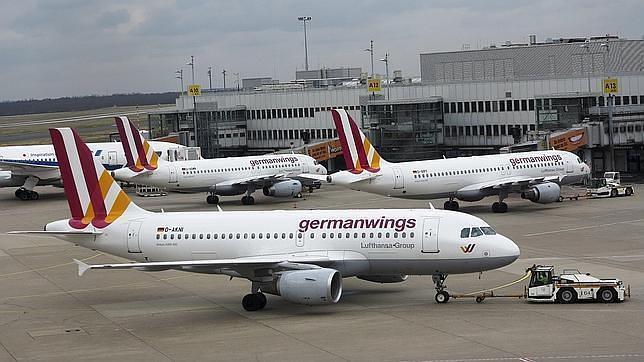 Uno de los aviones de Germanwings, en el aeropuerto de Dusseldorf