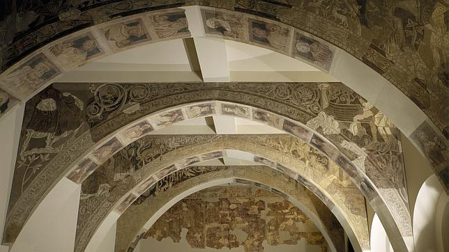 Pinturas de la sala capitular del Monasterio de Sijena, expuestas en el MNAC