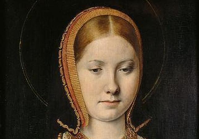 Retrato atribuido a Catalina de Aragón, pintado por Michael Sittow