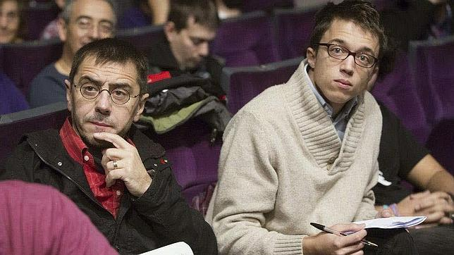 Juan Carlos Monedero, a la izquierda, e Íñigo Errejón