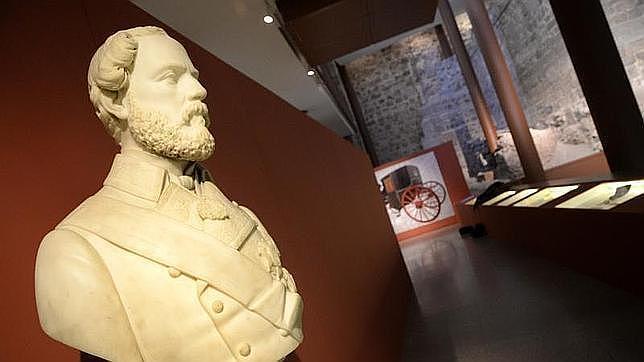 Busto del general en la exposición del Museo del Ejército