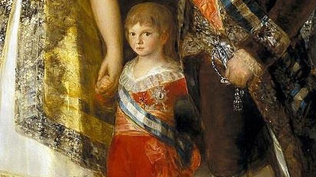 Detalle del Infante Francisco de Paula, del cuadro de Goya en el que aparece toda la familia de Carlos IV