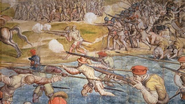 Tapiz del ataque a Túnez por parte de los ejércitos de Carlos I, el epílogo del desastre de Los Gelves de 1560