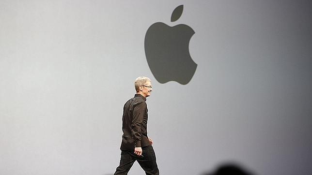 Tim Cook, consejero delegado de Apple, durante una presentación