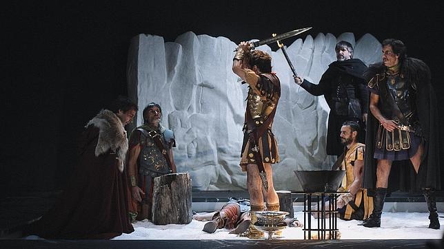 Una de las escenas de la representación teatral