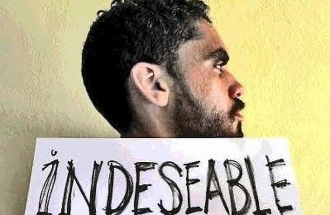 El artista cubano Danilo Maldonado, en una imagen colgada en su blog