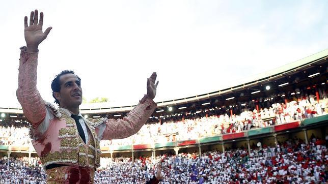 Iván Fandiño, a hombros en la pasada Feria de San Fermín