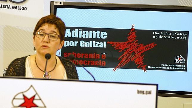 Montse Prado, del BNG, al presentar la propuesta nacionalista para celebrar el 25 de julio