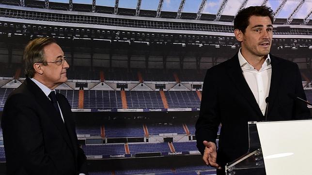 Florentino y Casillas, en la despedida del portero